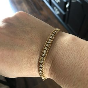 """unknown Jewelry - Loose Link Gold Toned Tennis Bracelet 7"""""""